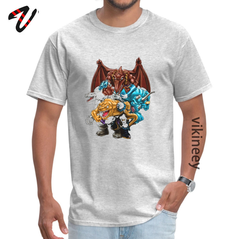 Family Tops T Shirt Latest Short Sleeve Man T Shirt TpicOriginaltitle Custom Lovers Day Sweatshirts Crew Neck Extreme Dinosaurs Group 11067 grey