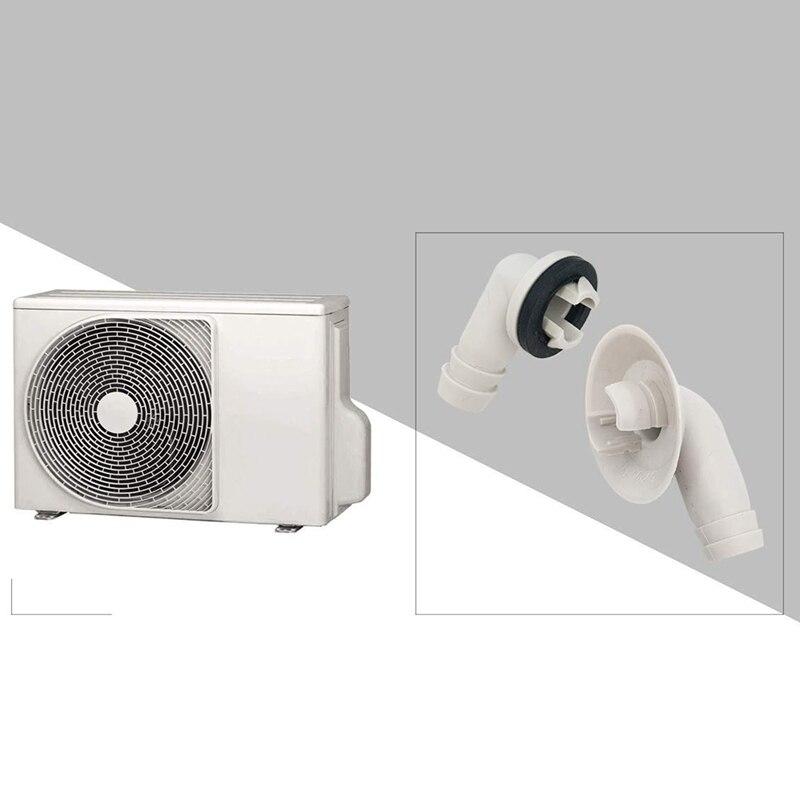 15 Mm Glossia Acondicionador de Aire Conector de Manguera de Drenaje de CA Acoplamiento Del Codo con Anillo de Goma para Unidades Split y Unidad de Ventana de CA 3//5 Pulgadas