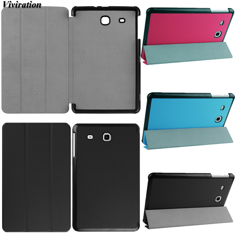 Cover For Samsung Galaxy Tab E 9.6 T560 T561 Model T580 T280 T550 T350 T820 T555 T355 Leather Smart Case PU Slim Protective Skin