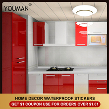 PVC Self Adhesive Wallpaper Furniture Film Wall Stickers for Kitchen Cabinet Door PVC Self adhesivedesktop Waterproof Wallpapers