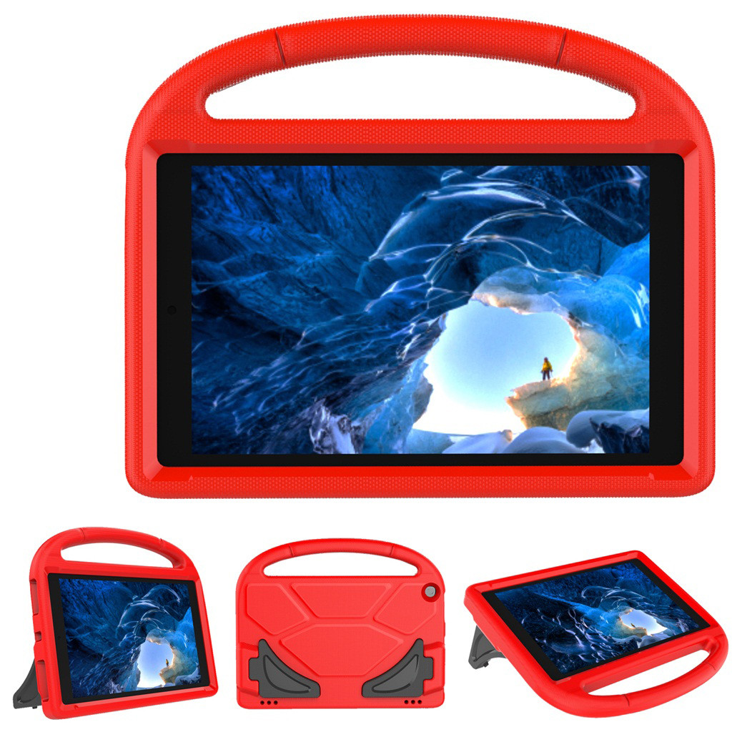 For Amazon Fire HD 10 10.1inch 2019 Tablet Protecter for kids  Shell Safe EVA Foam Handle Stand Case Cover  1031#C