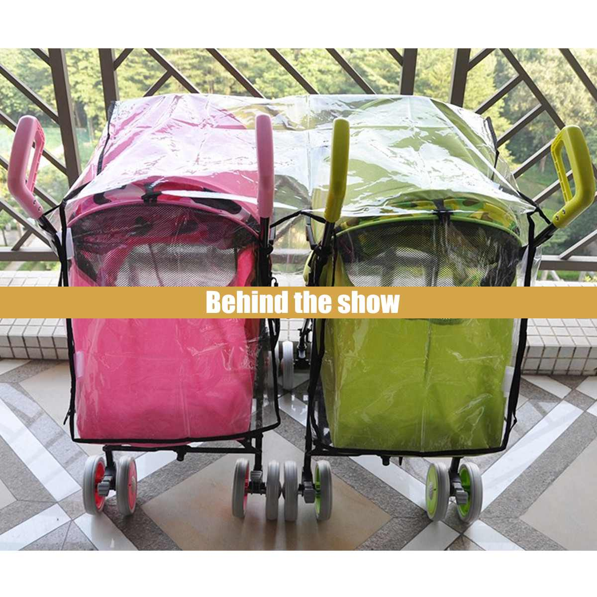 Baby Kid Universal Buggy Pushchair Stroller Pram Transparent Rain Cover H