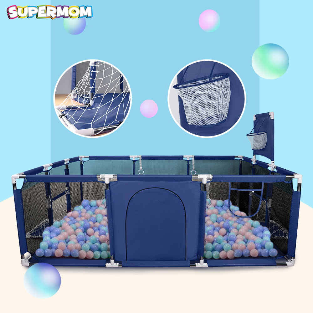 Baby Playpen Pool-Balls Tent Barrier Game Railing Basketball Safety Foldable Kids 0-6-Years-Old title=