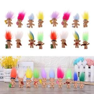 Colorful 16pcs Dollhouse Mini Figures Lucky Troll Dolls Dolls Leprocauns