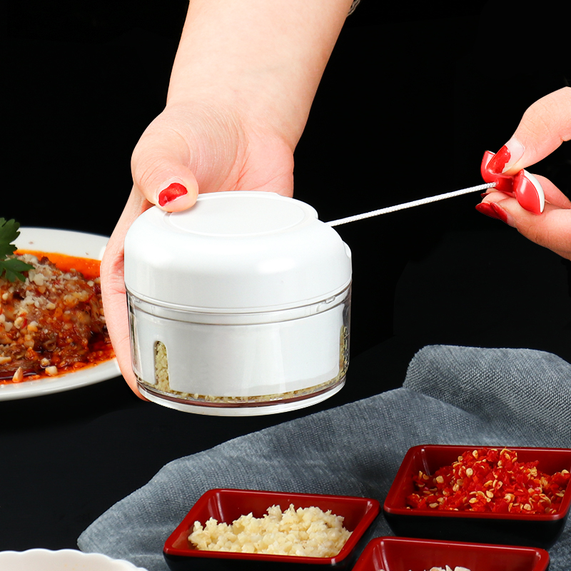 Mini household chopper grinder manual grinder vegetable meat garlic press kitchen multi-shredding machine gadgets