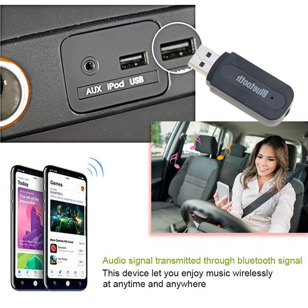 Bluetooth dongle bluetooth receiver car adatper audio transmitter17