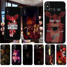 CUTEWANAN Fnaf плюшевый Foxy чехол для iPhone 11 pro XS MAX 8 7 6 6S Plus X 5S SE 2020 XR чехол(China)