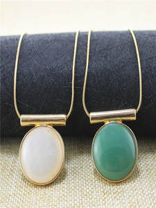 Circle Necklace Snake-Chain Stone XQ White Long New-Fashion The