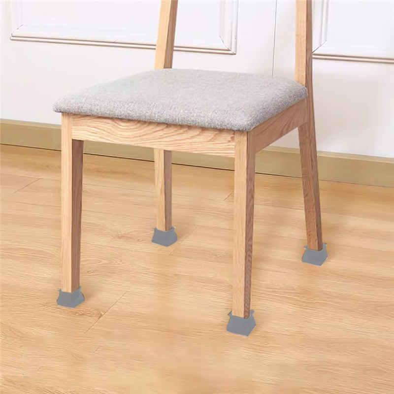 Table Chair Leg Silicone Cap Pad Furniture Table Feet Cover Floor Protector  Home Essentials Required for living room Protection