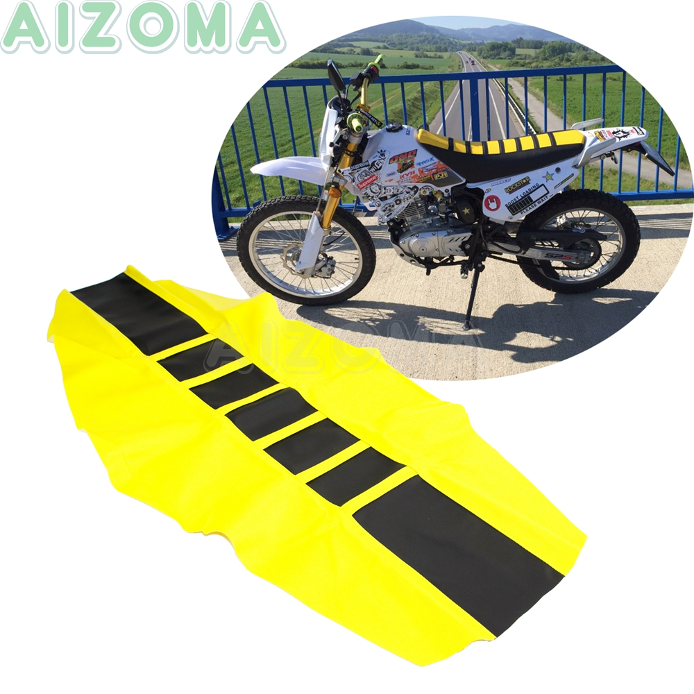 Seat-Covers Yamaha Suzuki Honda Rubber for Drz400sm/Dr/Drz/.. 450/500-Enduro Yellow Dirt-Racing-Bike title=