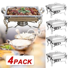 Chafing Dishes Buffet-Set Catering Warmer Water-Pan Stainless-Steel Food And Lid