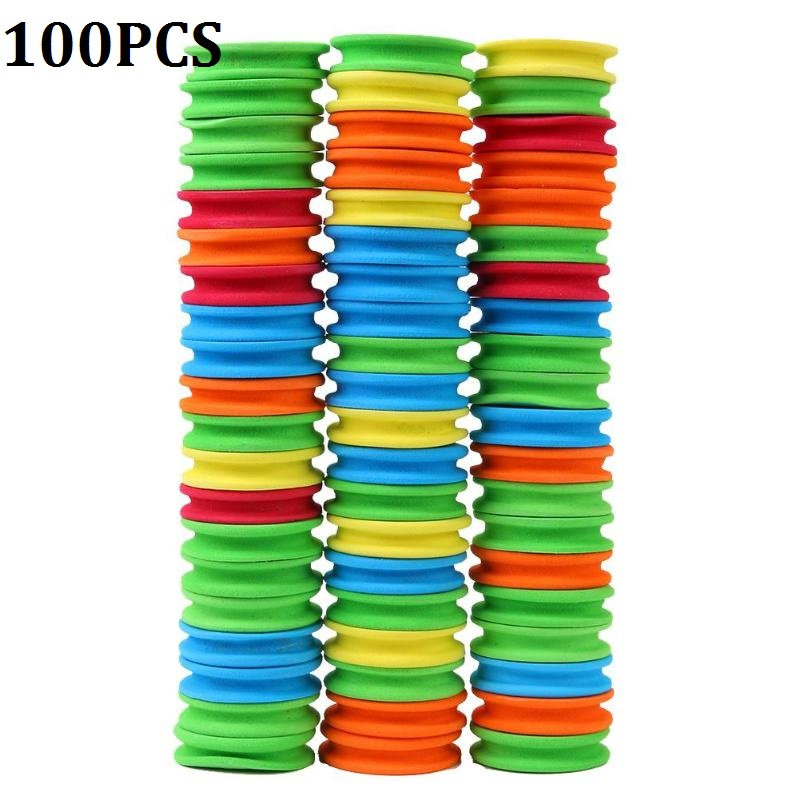100pcs Foam Winding Wire Board Swivel Spools for Fishing Line Accessories title=