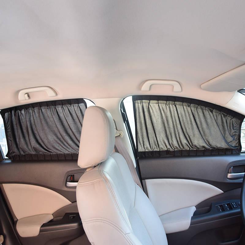 2x Pare-soleil de voiture vitre latérale arrière protection élastique anti-UV SQ