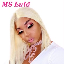 Human-Hair Wig Bob-Wigs Blonde Short Bob Ms Lula Lace-Front Pre-Plucked 13x6 Straight Ombre