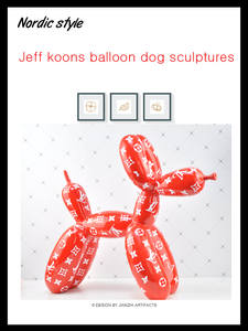Dog-Statue Balloon American-Art Jeff Koons Craft Home-Decoration-Accessories Resin Shiny
