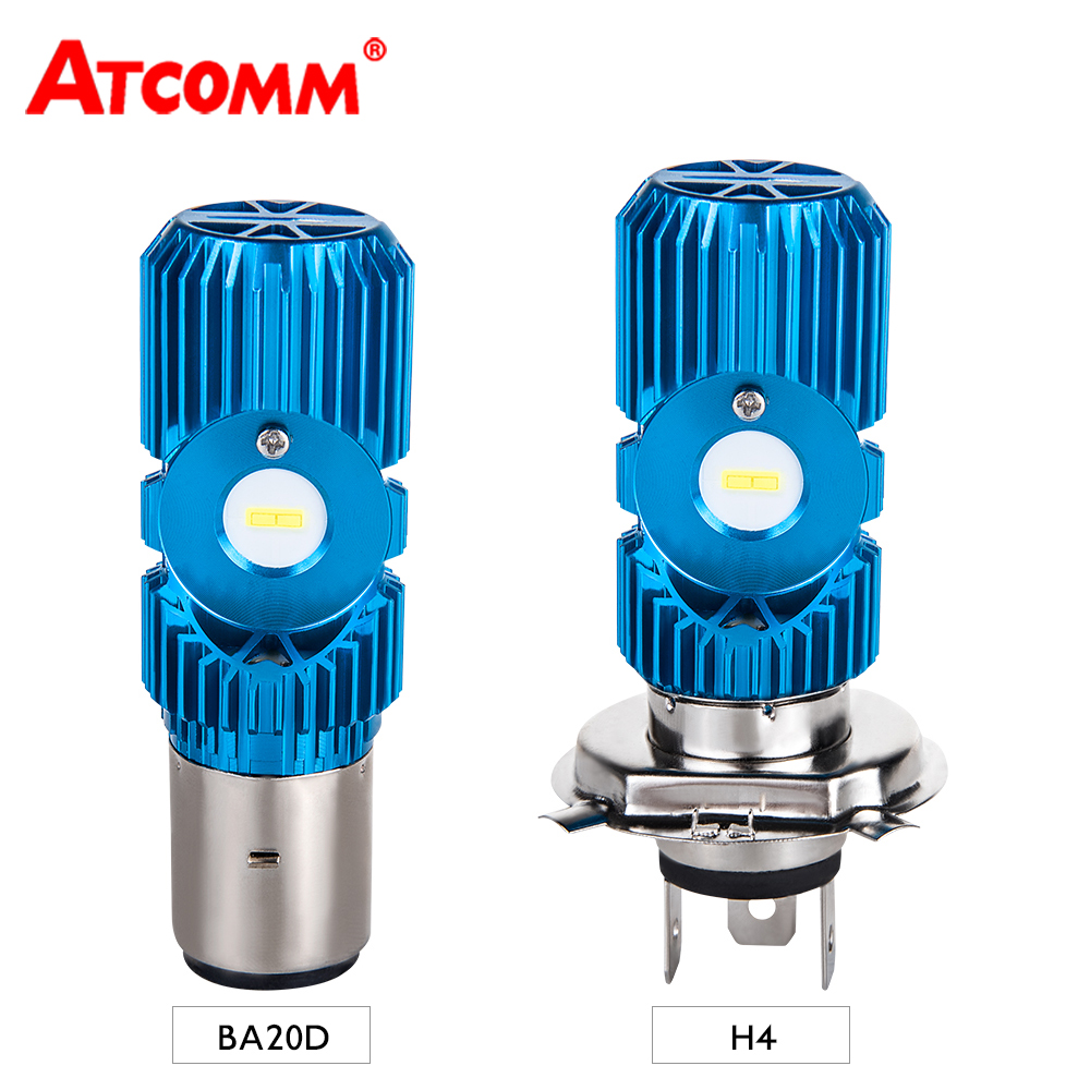 ATCOMM Bulbs-Lamp Car-Scooter-Lighting Motorcycle Headlight BA20D Electric 6000K LED title=