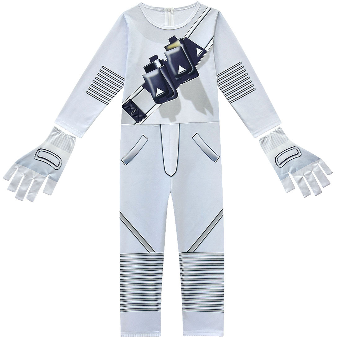 Kids Boys Girl Halloween Party Cosplay Marshmallow Casual Suit Face Mask Costume
