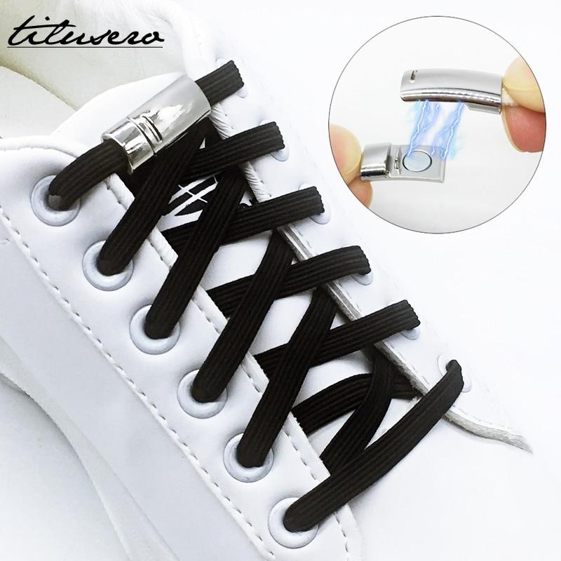 New Sneaker Shoe Lacing Locking Elastic Shoelaces