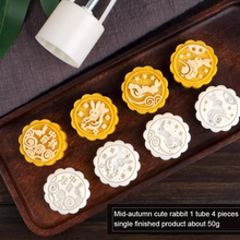 Mooncake Mold Barrel Kitchen-Tools Cake-Decor Pastry Flowers-Stamps 50g Round 3D