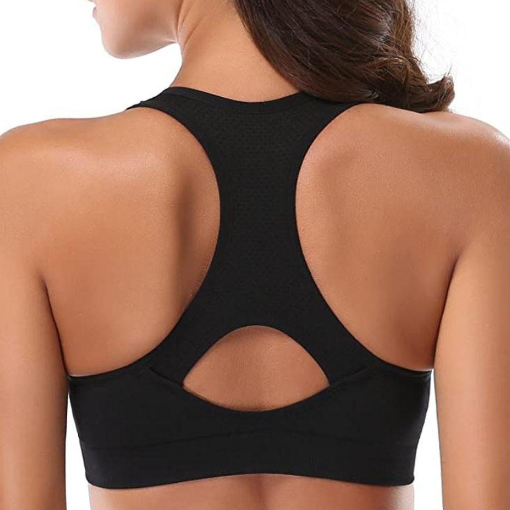 5pc Women Racerback Sports Bras High Workout Bra Wireless Push Up Bra Backless Comfort Underwear Bralette Sexy Lingerie Woman