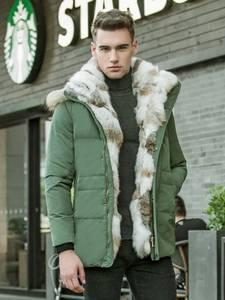 Coat Parkas Down-Jacket Duck Winter PLUS-SIZE Warm 5XL Rabbit-Fur-Collar Female Men High-Quality