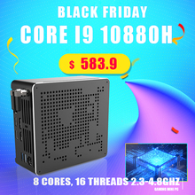 Gaming Computer Cores 10th Mini Pc Powerful Topton HDMI2.0 Wifi I9 10880h DP 16 Gen AC