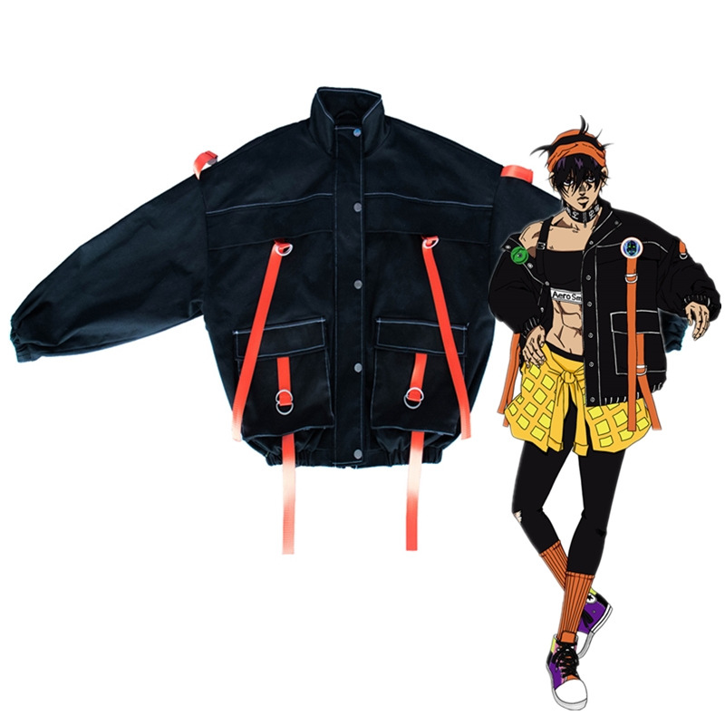 Cosplay Costume Coat Jojo Bizarre Adventure Anime Unisex for Only Daily Narancia Ghirga title=