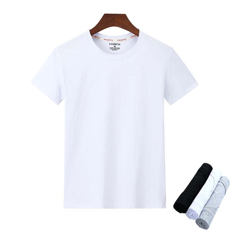 3pcs/lot Solid Color Men's T-Shirts 100% Cotton Casual Short Sleeve T-shirt Mens High Quality Tee Shirt Summer Camisetas Hombre