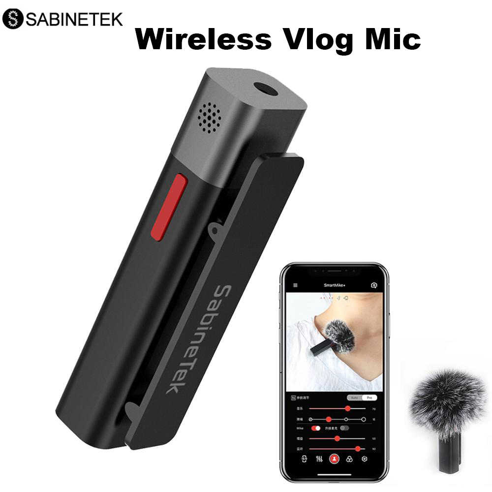 SmartMic Bluetooth Lavalier Wireless Microphone TWS Vlogger bonus Plug-in mic