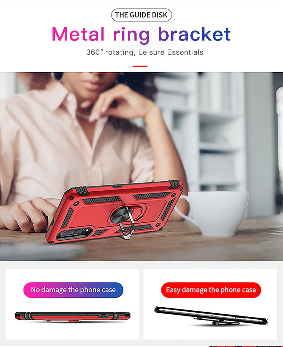 !ACCEZZ Magnetic Ring Phone Case For Xiaomi Redmi Note 7 Protection Back Cover Magnet Phone Holder For Redmi Note 7 Hard Shell (2)