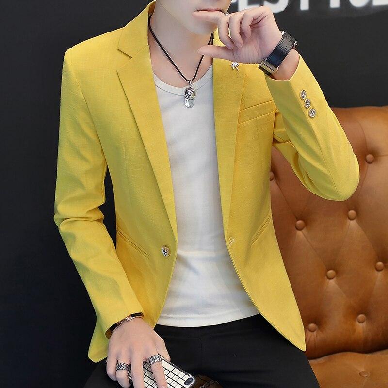 Casual Short Jacket Blazer Formal Office Men White Tuxedo Waistcoat Lish Blazer Men Slim Fit Trajes Hombre Casuales Coats JJ60XX