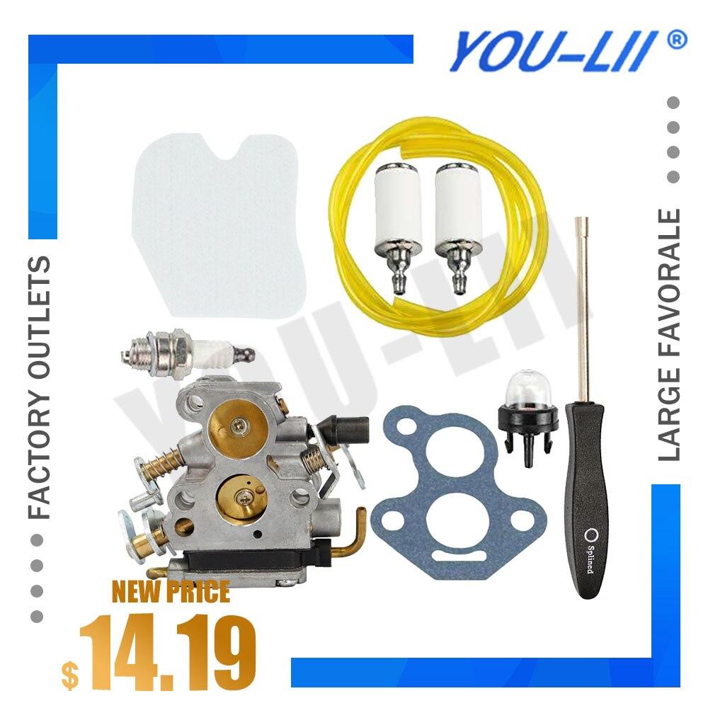 Motori Parts Kit carburatore for Husqvarna 235 235E 236 240 240E Motosega 574719402 545072601 Carb
