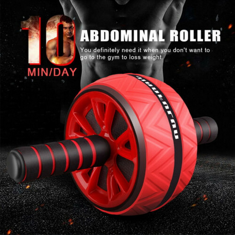 Advertisement - Best Large Silent Abdominal Wheel Roller Trainer Fitness Equipment Gym Indoor Home Exercise Body Building ABS Roller