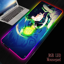 Computer Mousepad Desk-Mat Keyboard Anime Gaming Led-Backlight My-Hero-Academia Gamer