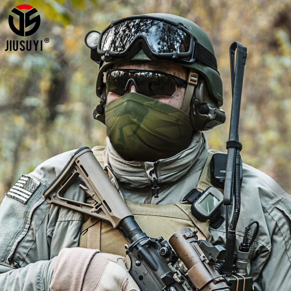Military Tactical Bandana Summer Face Scarves Tubular Head Mask Scraf Camo Anti-UV Windproof  Soft Neck Gaiter Cover Men Women