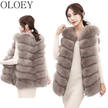 Vest Jacket Real-Fur-Coat Winter Women's Stylish Natural Sleeveless New Warm High-Quality