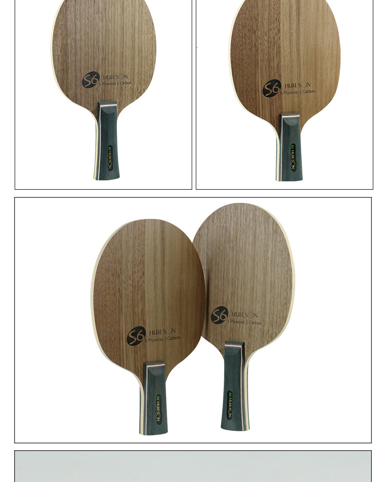 Super Quality Table Tennis Racket Blade Walnut Ayous 5 Plywood 2 Ply Carbon Ping Pong Blade for Senior Players S6 (6)