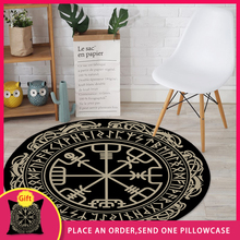 Round Carpet Rug Bedroom Animal-Pattern Living-Room Retro Black-Series Kitchen FYMX