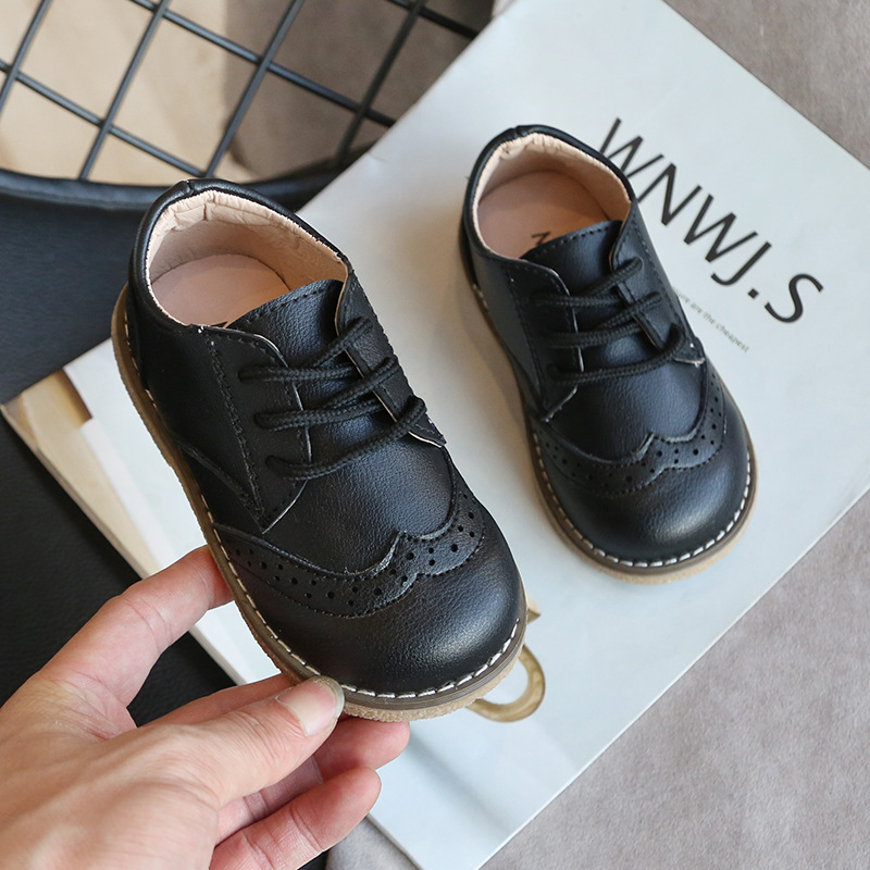 New Spring Autumn Children Leather Shoes for Boys Girls Casual Shoes Kids Soft Bottom Casual Outdoor Shoes Baby Sneakers