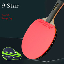 Table-Tennis-Racket Rubber Ping-Pong Carbon-Fiber Huieson Training Professional Double-Face