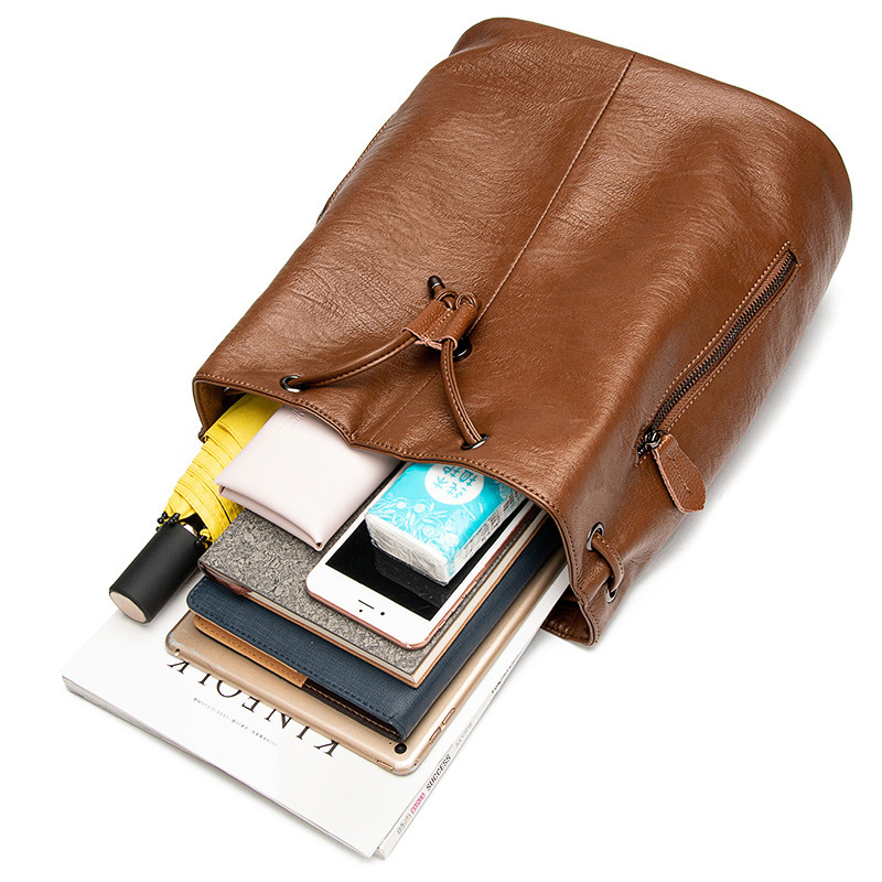 Leather Shoulder Bag Girl 2019 Amazon/'s New Cowhide Bag Soft Leather Student Bag  Backpacks  Cute Backpack