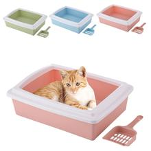 Sand-Box-Supplies Semi-Enclosed Cat-Litter-Box Pet Cat Toilet Detachable Clean-Scoop