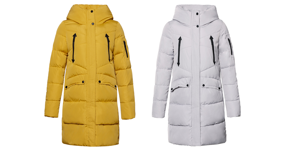 ICEbear 19 New Women Winter Jacket Coat Slim Winter Quilted Coat Long Style Hood Slim Parkas Thicken Outerwear B16G6155D 13