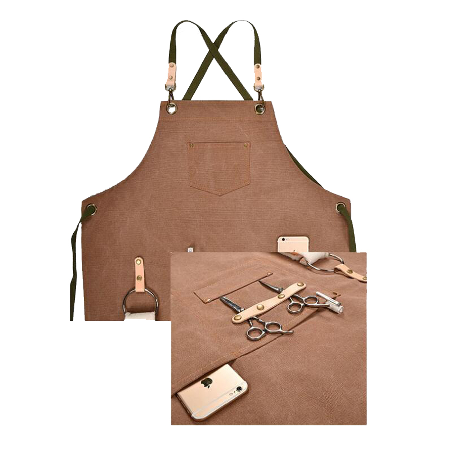 Kitchen Apron  For Men Women Chef Apron Barber Floral Artist Restaurant Coffee Shop BBQ Kitchen Aprons Working Uniform