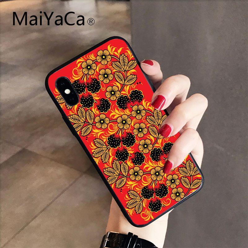 Khokhloma Russian Pattern Flower