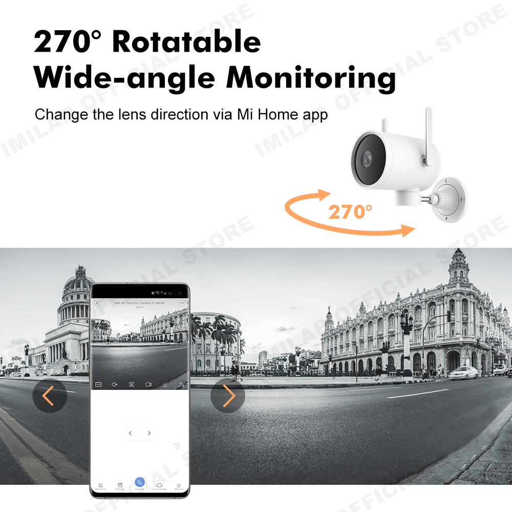 Global Version Outdoor Smart Camera Imilab EC3 Waterproof IP Camera Update 2K HD CCTV Wi-Fi Hotspot Router Rotatable