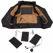 8/5/3pcs USB Electric Heated Jacket Heating Pad 3 Gear Adjustable DIY Heated Clothing