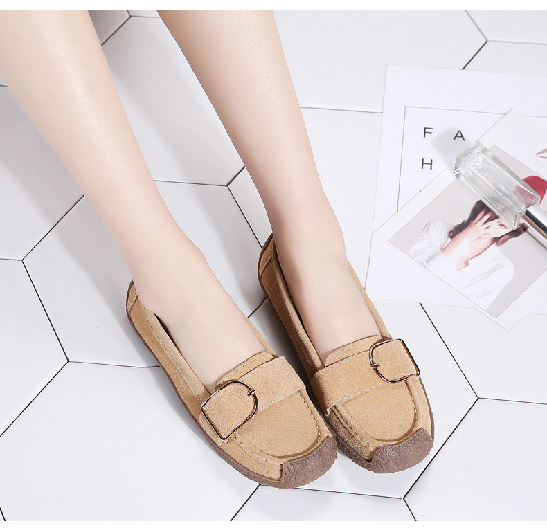 HX 7038-Spring Autumn Cow Suede Leather Women Flats-6