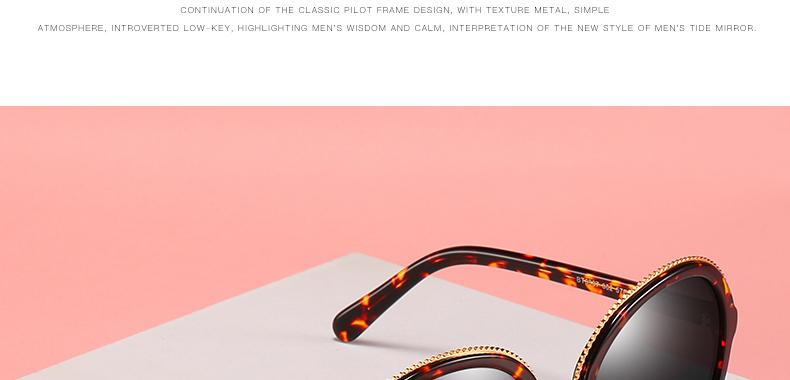 Women Sunglasses Frame Glasses Polariod Lens UV400 Polarized Sunglasses Women Fashion Round Frame Eyewear Glasses (8)