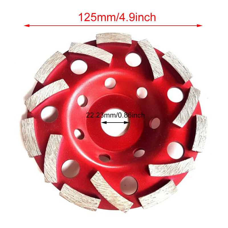 125mm Double Turbo Diamond Grinding Cup Wheel Concrete Screed Angle Grinder